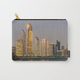 Abu Dhabi Seascape with skyscrapers in the background at evening Carry-All Pouch