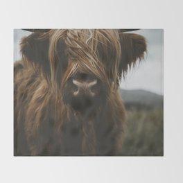 Scottish Highland Cattle Throw Blanket