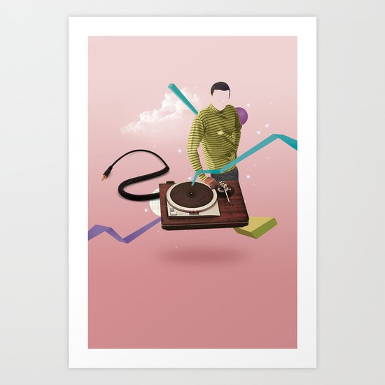 ILOVEMUSIC #4 Art Print