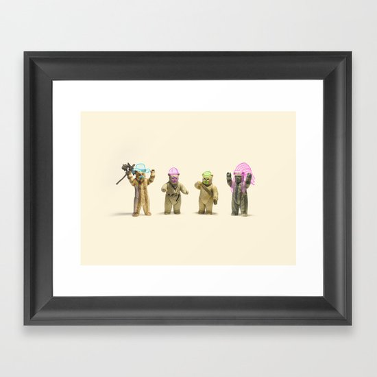 Ewok Village People Framed Art Print