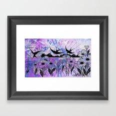 sky birds Framed Art Print