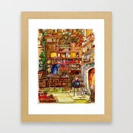 Christmas with Mice Framed Art Print