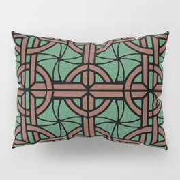 Stained Glass - Green and Red Pillow Sham