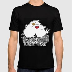 Big Chicks Need Love Too!! Mens Fitted Tee MEDIUM Black