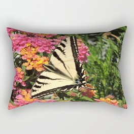 Swallowtail on Lantana Rectangular Pillow