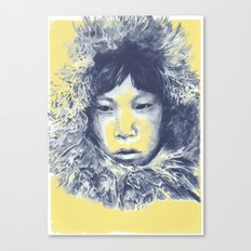 Just before the war with the eskimos Canvas Print