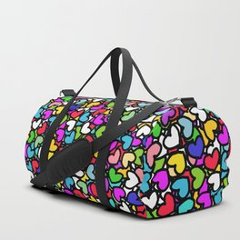 Rainbow LOVE Hearts Duffle Bag