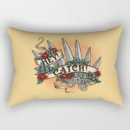 Hey! Catch! Yellow Rectangular Pillow