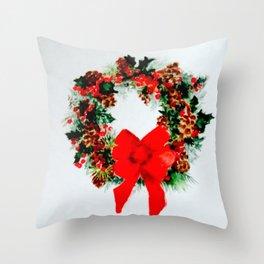 Wreath 4 Throw Pillow
