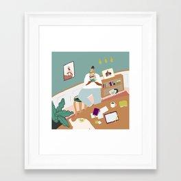 Perks of a Library Card Framed Art Print