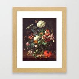 Vase of Flowers II - de Heem Framed Art Print