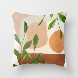 Nature Geometry XI Throw Pillow