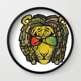 Jamaican Lion product Gift for Rastas & Reggae Music lovers Wall Clock