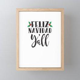 Feliz Navidad Y'all Funny Christmas Framed Mini Art Print