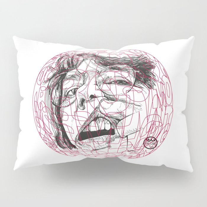 Self-portrait with a tooth and spider Pillow Sham