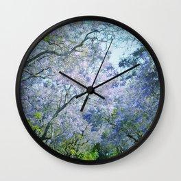 Jacaranda Canopy Wall Clock