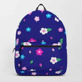 Cherry Blossom Garden - Deep Blue Backpack