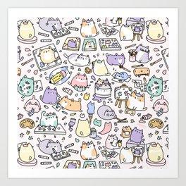 Artsy Cats Art Print