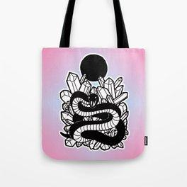 Crystal Moon Serpent Tote Bag