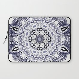 Blue Blue Christmas Snowflake Mandala Laptop Sleeve