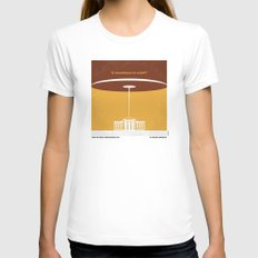 No249 My INDEPENDENCE DAY minimal movie poster Womens Fitted Tee White LARGE