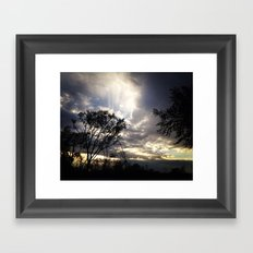 Peaceful and powerful sunset Framed Art Print