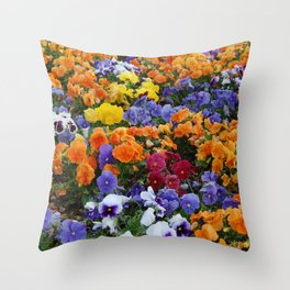 Pancy Flower 2 Throw Pillow
