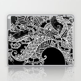 Zen Tree Rebirth Black Left Half Laptop & iPad Skin
