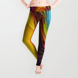 Melting Pot of Colors Abstract Leggings