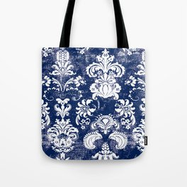 navy and white breeze Tote Bag