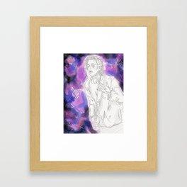 // G A L A X Y  B O Y // Framed Art Print