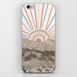 Summerlin Mountain // Abstract Vintage Mountains Summer Sun Vibe Drawing Happy Wall Hanging iPhone Skin