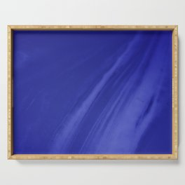 Blurred Royal Blue Wave Trajectory Serving Tray