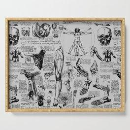 Da Vinci's Anatomy Sketchbook // Silver Serving Tray