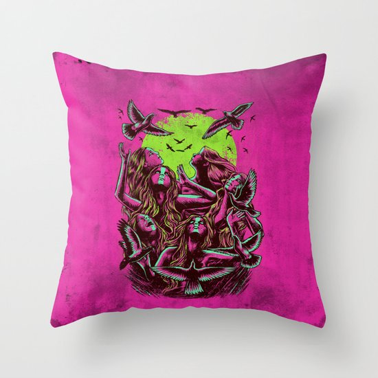 FLAYING BACK Throw Pillow