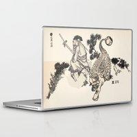 bouletcorp Laptop & iPad Skins featuring Old Man & Ankylosaurus by Bouletcorp