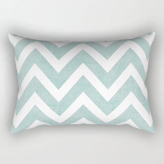 robins egg blue chevron Rectangular Pillow