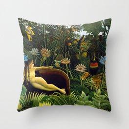 The Dream by Henri Rousseau (1910) Throw Pillow