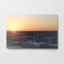 Sonnenaufgang am Meer Metal Print