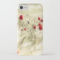 poem iPhone & iPod Cases featuring A POPPY  POEM by Stephanie Koehl