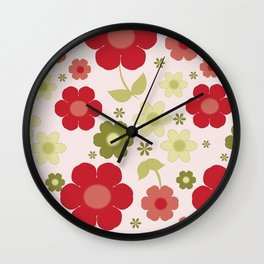 Flowers: Carnaby Flowers Wall Clock