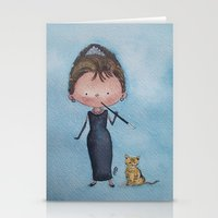 audrey Stationery Cards featuring Audrey by Juliana Motzko
