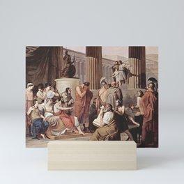 Francesco Hayez - Ulysses at the court of Alcinous Mini Art Print