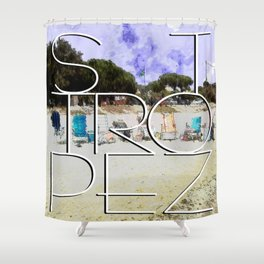 Summerholiday near St. Tropez Shower Curtain