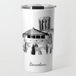 Barcelona monastery of Pedralbes Travel Mug