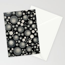 GOTH - grey bubbles on black Stationery Cards