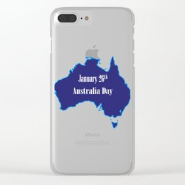 January 26th Australia Day Clear iPhone Case