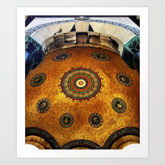 Gold Dome Art Print