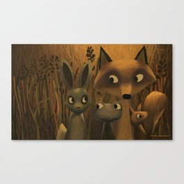 Did You Hear Something? Canvas Print