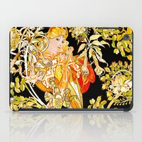 mucha iPad Cases featuring Marguerite's Bower, Mucha by Vintage Era Art